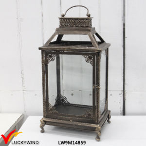 Rectangular Vintage Metal Framed Glass Floor Standing Lanterns pictures & photos