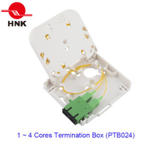FTTH 1 Ports Optical Micro Termination Box for Sc Adapters pictures & photos