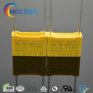Metallized Polypropylene Safety Capacitor (104k/275VAC RoHS Reach) X2 Yellow Capacitor pictures & photos