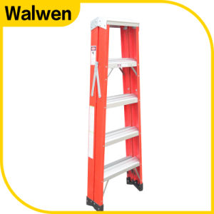 4 Step Hotsale Double Side Foldable Fiberglass Ladder pictures & photos