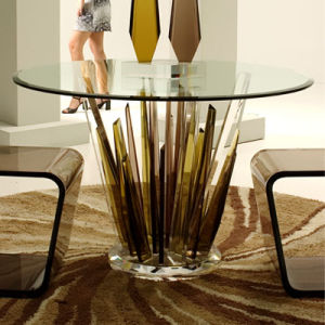 Special Design Acrylic and Glass Round Dining Table