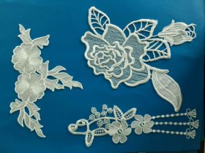 100% Polyester Flowered Decorated Bridal Lace pictures & photos