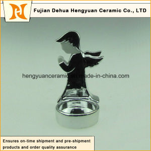 Angel Shape Ceramic Candle Holders for Christmas Decoration pictures & photos
