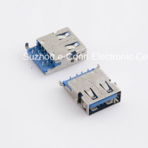USB Shielded I/O Receptacle Right Angle Usbx-A9fx-Xxr0-21 pictures & photos