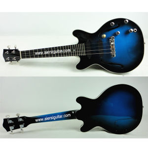 Aiersi Blueburst Color Hollow Body Electrical Jazz Ukulele pictures & photos