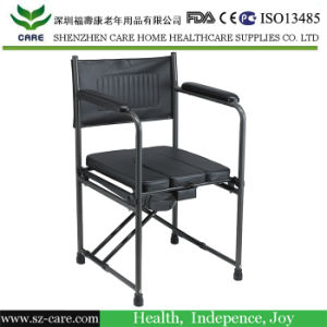 Toilet Seat Chair with Plastic Bucket Medical Commode Chair Toilet Pedestal Pan