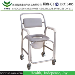 Medical Aluminum Foldable Commode Chair pictures & photos