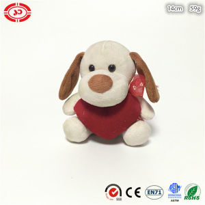 Plush Sitting Dog Animal Toy with Heart Valentines Gift pictures & photos
