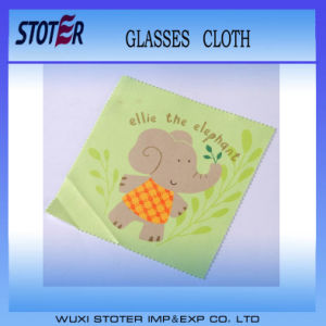 Custom Silk Logo Printed Microfiber Eyeglasses Cleaning Cloth Supplier pictures & photos