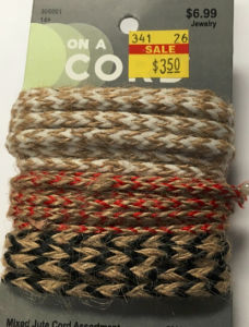 Mixed Jute Cord for Gift Packing or Hand Make Working
