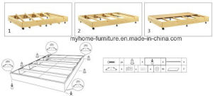 Assembly Wooden Slats Bed Frame pictures & photos