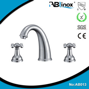 Two Handle Mounted Water Basin Faucet (AB013) pictures & photos