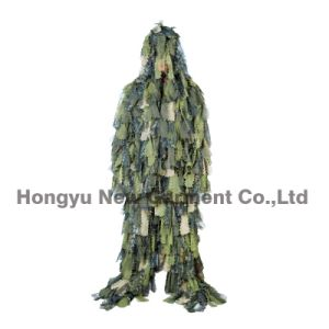 Camouflage Clothing Leaf Ghillie Suit for Wargame Use (HY-C007) pictures & photos