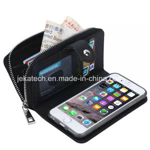 Zipper Wallet PU Leather Case for iPhone 6 pictures & photos