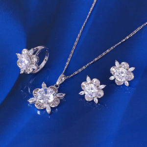 Xuping Luxury Jewelry Set with Cubic Zirconia (61140) pictures & photos