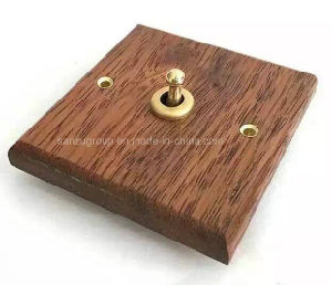 2016 New Model Indonesia Merbau Wooden 1 Gang Wall Switch pictures & photos