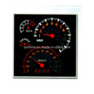 LED Electronic Motormeter Time Clock with Week Days Display pictures & photos