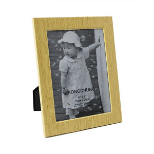 Wooden Grain Metal Picture Frame for Home Deco pictures & photos