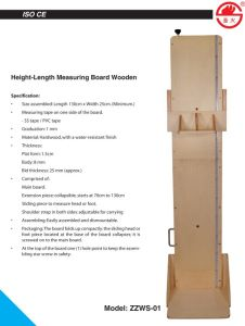 Height Length Measuring Board Wooden (ZZWS-01) pictures & photos