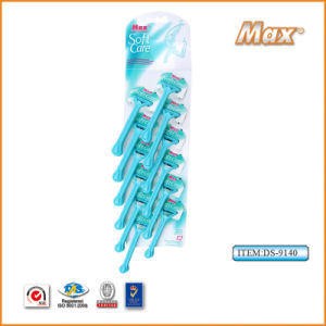 Platinum Coated Stainless Steel Twin Blade Disposable Shaving Razor (DS-9140) pictures & photos