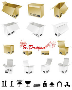 Cardboard Packing Mailing Moving Shipping Boxes Corrugated Cartons (PC017) pictures & photos
