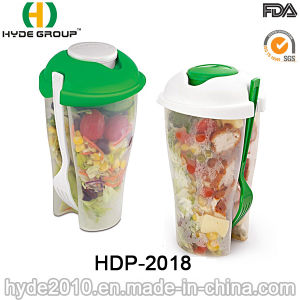 Wholesale to Go Salad Shaker Cup with Fork (HDP-2018) pictures & photos