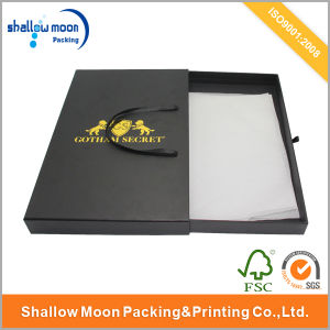 Customize Black Paper Gift Box with Hot Stamping (QYCI001) pictures & photos