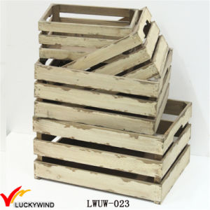 Cheap Rustic Distressed Wooden Apple Crates Wholesale pictures & photos