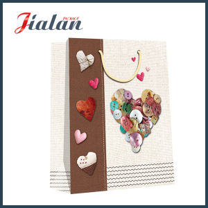 Art Paper Heart Shape Printed Customize Paper Shopping Gift Bag pictures & photos