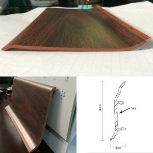High Quality Best Price Plastic Skirting Boards for Bamboo Flooring pictures & photos