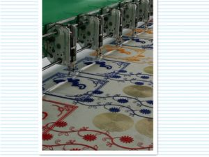 Computerized 15 Colors Embroidery Machine for Fabric with 2 Needles pictures & photos