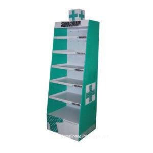Easy Setup Corrugated Cardboard Medicine Display Stands Boxes