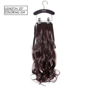 100% Japanese Kanekalon Synthetic Ponytail Hair Extension pictures & photos