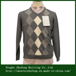 Men′s Argyle Pullover Sweater Nbzf0053