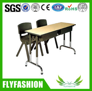 Cheap Classroom Furniture Double Desk and Chair for Wholesale (SF-25D) pictures & photos