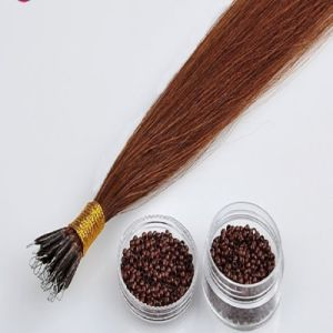 Indian Remy Nano Bead Human Hair Extension pictures & photos