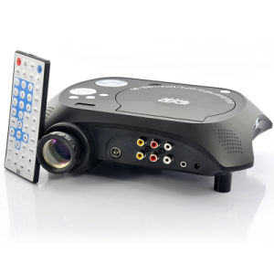 LED Multimedia Projector with DVD Player - 480X320, 20 Lumens, 100: 1