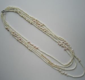 Daking 4 Rows White Freshwater Pearl and Shell Necklace, Fashion Jewelry pictures & photos