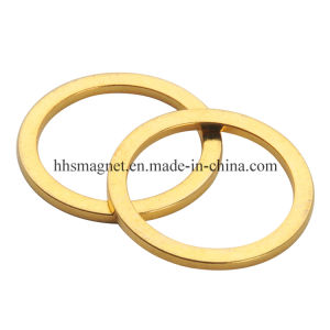 Gold Ring Magnet Rare Earth NdFeB with Au Coating pictures & photos