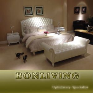 Bedroom Furniture/Leather Bed Set pictures & photos
