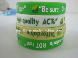 Custom Debossed Silicone Wristband pictures & photos