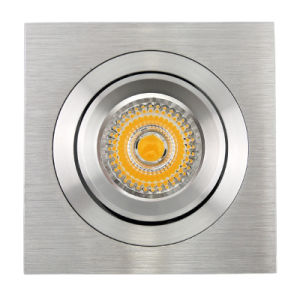 Lathe Aluminum GU10 MR16 Square Tilt Recessed LED Spotlight (LT2309B) pictures & photos