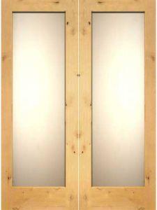 Knotty Alder Bath Room Door Double Door (S7-1006) pictures & photos