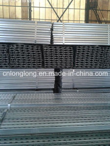 C and U Slotted Perforated Galvanized Shaped Steel Profile Strut Channel pictures & photos
