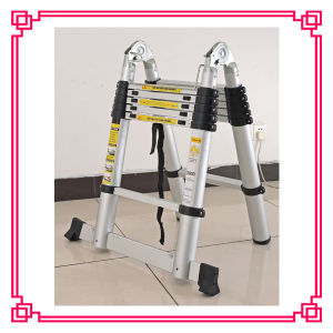 Free Standing Ladder/Folding Extension Ladder/Telescopic Aluminum Ladder pictures & photos