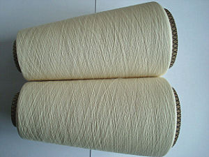 Combed Cotton Jute Viscose Fiber Blenched Yarn pictures & photos