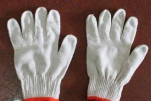 Hotsale Competitive Bleached Cotton Working Gloves pictures & photos