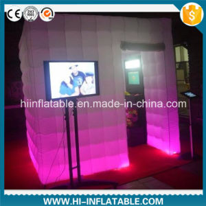 Custom Made Wedding, Event, Party Supplies Inflatable Photo Booth with LED Light for Sale