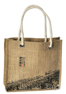 Pollution-Free Jute Carrier Bags (hbjh-13) pictures & photos