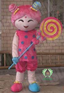 Hi En71 Cookie Girl Mascot Costume for Adult